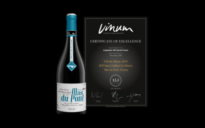 Etoile Filante Mas du Pont 2014, Prix d'Excellence par Vinum